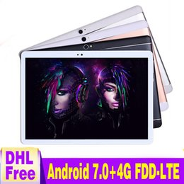 Discount tablets sale free shipping - Hot sale version Free shipping 10 inch Tablet PC Android 7.0 Deca Core 4GB RAM 64GB ROM 4G LTE Tablet PC 1920*1200 IPS G