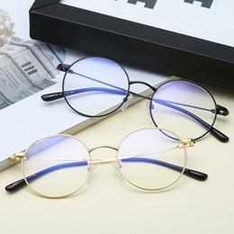 94d9b289c4 2018 moda para hombre gafas para mujer gafas de lentes claras unisex gafas  retro gafas de venta caliente redondo marco de metal gafas