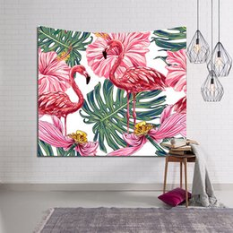 $enCountryForm.capitalKeyWord NZ - Digital printing tapestries wall carpet beach towels flamingos plants 229x153 cm