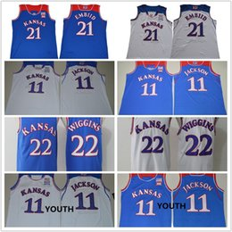 5b19734de29 ... wholesale men youth kansas jayhawks college jerseys 11 josh jackson 22  andrew wiggins 21 joel embiid