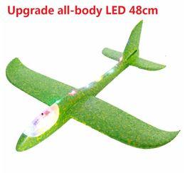 $enCountryForm.capitalKeyWord NZ - Big Good quality 48cm LED Hand Launch Throwing Airplane Glider Aircraft Inertial Foam EPP Toy Children Plane Model Outdoor Fun