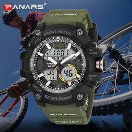 Brand Luxury Style Watch Australia - PANARS Digital Sports Men's Watches G Style Mens Waterproof Male Clock Electronic Wristwatches Fitness Watch Luxury Brand