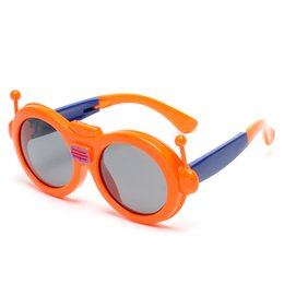 girl children models NZ - Kid Sunglasses Fashion Uv400 Polarized Fold Silica Gel Wholesale New Model Sun Glasses with Car Case As Gift
