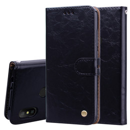 cover note flip stand Canada - Vintage Stand Leather Cover For Xiaomi Redmi Note 6 Pro Case Flip Cover Wallet Cover Leather Casing Redmi Note 6pro Carcasas Phone Cases