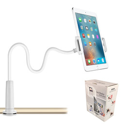 Wholesale 360º Gooseneck Lazy Bed Desk Mount Stand Holder For iPad Kindle Android Tablet with Retail Box