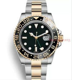 Discount reloj water resistant - Black Ceramic Bezel AAA Luxury Brand Automatic Watch Stainless Steel Clasp Mens Fashion Master Watches Original Clasps R