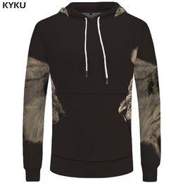f26ab0563e99 Coolest Hoodies Canada - KYKU Lion Hoodies Men Tiger Sweatshirts Battle  Sweatshirt Animal 3d Hoodies Pocket