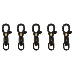 $enCountryForm.capitalKeyWord UK - 5pcs lot Quick Release Keychain 360 Degree Swivel Mini Hooks Clips Hanging Buckle Hooks Outdoor Tactics