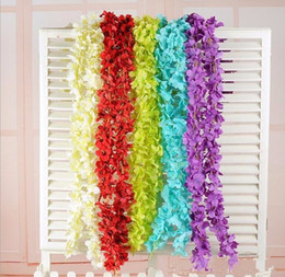Lighted garland ornaments australia new featured lighted garland 2m pcs upscale artificial silk flowers hydrangea wisteria garland for home hanging ornament wedding decoration supplies junglespirit Gallery