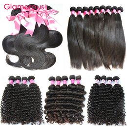 14 inches curly hair 2018 - Glamorous 10Pcs lot Human Hair Weaves Wholesale 8-34Inch Brazilian Hair Bundles Most Pupular Straight Body Wave Curly Hu