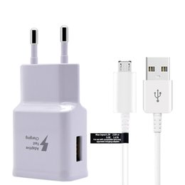 Eps wall online shopping - Original Quick wall adapter Fast Charging Travel Wall Charger M Micro Usb Data Cable EP DG925UWZ For Samsung Galaxy S6 Edge Plus
