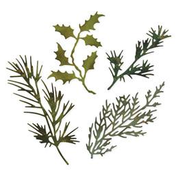 Emboss mEtal online shopping - Metal Cutting Dies Scrapbooking Holiday greenery Leaves Craft Die cuts Card making diy Emboss Thinlits create Stencil MM