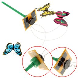 Solar Powered 3pcs Dancing Flying Butterfly con bastone per Garden Yard Plant Decor