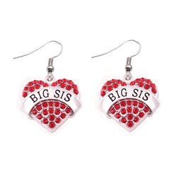 $enCountryForm.capitalKeyWord UK - Female Earrings Heart Shape Charm BIG SIS Written With Beautiful Crystals Birthday Gift For Sister Zinc Alloy Dropshipping