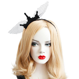 Discount delicate crowns - MISSKY Women Black Elegant Mesh Crown Headwear Delicate Hair Clasp for Halloween Party