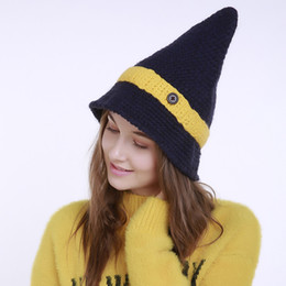 $enCountryForm.capitalKeyWord NZ - Women Winter Knitted Wool Hats Tip Cap Beanie Hand Knitted Hat New Small Sharp Pointed Caps 15 2gf gg