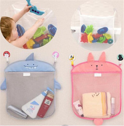 kids toy net NZ - Baby bathroom mesh bag for baths toy bag kids basket for toys net cartoon animal shapes waterproof cloth sand toys beach stroage TO409