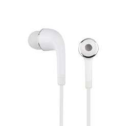 White Wire hot online shopping - HOT Wired Hearphones In ear Earbuds mm Sport Running Hearphone with Mic Volume Control Headset with OPP Bag