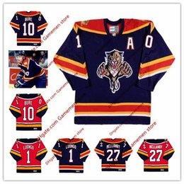 2ee87d1b4 Men s PAVEL BURE Florida Panthers 1 ROBERTO LUONGO 27 SCOTT MELLANBY 1999  CCM Vintage Retro ice Hockey stitched Jersey