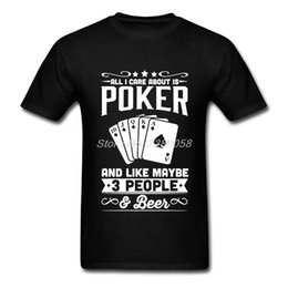 Discount t shirt poker - New Brand Men T Shirt Cool Poker T Shirt Hipster Hip Hop Short Sleeve Men T-shirts Plus Size
