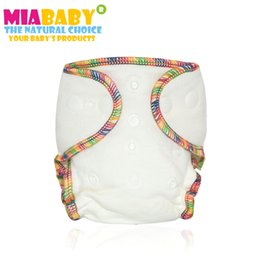 Wholesale wears diapers online – design Miababy Newborn bamboo cotton fitted cloth diaper fit babies from kgs needs to wear a diaper cover