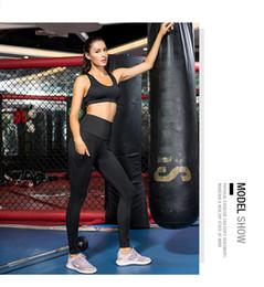 navy blue yoga pants 2019 - high waist women yoga pants with pocket women's printing running pants leggins sport women fitness yoga pants for f