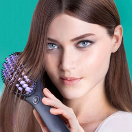 Straightening iron combS online shopping - travel Hair Straightening Brush Auto Fast Hair Straightener Comb Irons With LCD Display Electric Straight Hair Brush Barber