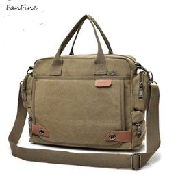 gray handbags NZ - FanFine New Male Briefcases Big Business Men Messenger bag Canvas Men's Handbags Travel Cross-Body Men Shoulder Bags Black