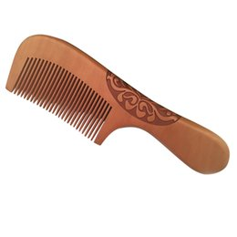Hair Horns UK - Handmade Natural Ox Horn Pear wood Comb Wooden Handle Combs Hair Style Designer Professional For Ladies Great Gift