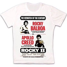 Discount rocky tee shirt - Rocky 2 Balboa Apollo Creed Stallone Movie Poster 70s Mick's Unisex T Shirt 848Funny free shipping Unisex tee