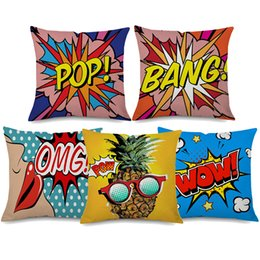 Wholesale BANG WOW Pop Style Cushion Covers Styles Pineapple Sexy Lip Thin Linen Cotton Pillow Case X45cm Bedroom Sofa Decor