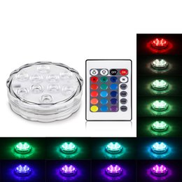 $enCountryForm.capitalKeyWord NZ - 10 Night Lamp Vase Bowl Outdoor Garden Party Decoration Led Remote Controlled RGB Submersible Light Battery Operated Underwater