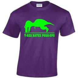 Funny nerd shirts online shopping - FUNNY T REX HATES PUSH UPS Mens T Shirt DINOSAUR Fitness Gym Geek Nerd Top