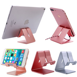 $enCountryForm.capitalKeyWord Australia - New creative products tablet holder metal Aluminum foldable mobile cell phone stand Portable Foldable Adjustable Aluminum Metal Cell Phone