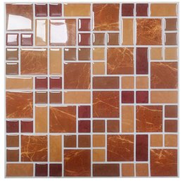 $enCountryForm.capitalKeyWord NZ - Wholesale-Wootile Mosaic Wall Tiles Peel and Stick Backsplash for Kitchen,Bathroom Pack of 6 Vinyl Wall Tiles