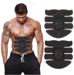 Vente en gros Nouveau EMS Muscle Abdominal Exerciseur Formateur Smart ABS Stimulateur Fitness Gym ABS Autocollants Pad Perte Corporelle Minceur Massager Unisexe