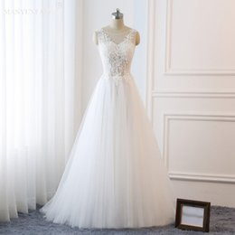 See Through Wedding Dress Crystal Beading Canada - 2019 Sweep Train Wedding Dresses Sweetheart Corset See Through Princess Bridal Gowns Beaded Lace Pearls Custom Made Bridal Gowns