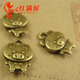 $enCountryForm.capitalKeyWord Canada - A4166 15*10MM Zinc alloy metal BRONZE NEW HANDMADE pig charms, tibetan vintage cartoon korean DIY lovely zhuzhuxia Pendant Jewelry