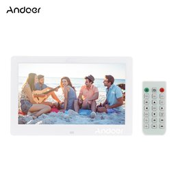 Remote contRol pictuRes online shopping - Andoer HD Digital Photo Frame Wide Screen High Resolution Digital Picture Frame MP4 Movie Player w Remote Control Gift