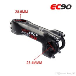 $enCountryForm.capitalKeyWord Australia - EC90 Bicycle Stem Carbon Stem Road Bicycle Stem MTB Carbon fiber angle 6 degree 28.6mm fork 25.4mm handlebar matte cycling parts 70mm-120mm