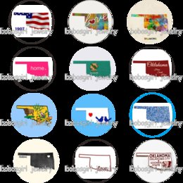 Charm Pictures NZ - USA US states oklahoma home love glass art Snap button Charm Popfor Snap Jewelry good quality picture pendant GS9775