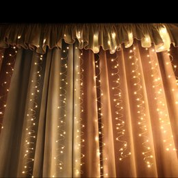 $enCountryForm.capitalKeyWord NZ - LED Copper Wire Curtain Light String Fairy Holiday Lamp Remote Control USB Plug Christmas Wedding Romantic Bedroom Store Decor