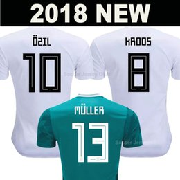 a061ce496 2018 soccer jersey World Cup MULLER KROOS GERMANY OZIL National team  HUMMELS DRAXLER KIMMICH WERNER REUS SANE THAILAND AAA football shirts