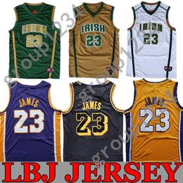 2019 New Season  23 LeBron James Men Youth Basketball Jerseys .High School  - St. Vincent-St. Mary HS LeBron James Basketball Jersey 4b3721aa6