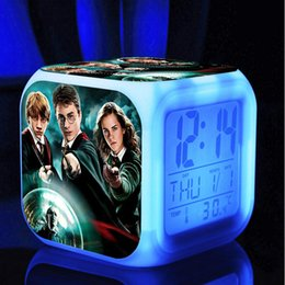 Changing Color Clock Australia - digital alarm clock Kids LED Clock Cartoon night light Flash 7 Color changing Bedside digital