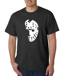 black jason hockey mask UK - Halloween Hockey Mask T-Shirt - FRIDAY THE 13TH Jason Voorhees Horror Freddy Men T-Shirt Free Shipping Top Tees Hot 2018 Summer