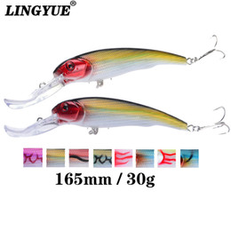 Japan Fishing Lures Wholesale Australia - 30g 16.5cm Minnow Fishing Lures Japan Deepswim Saltwater Hard Bait 3D Eyes Plastic Crank Bait Swimbait Sinking Wobbler Y18101002