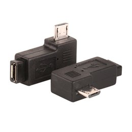 Angle Micro Hdmi NZ - Micro USB 2.0 5Pin Male to Female M to F Extension connector Adapter Connector 90 Degree Right & Left Angled 400pcs lot