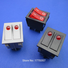 Discount warming oils - 2pcs brand new button rocker switch double electrical switch for warmer oil heater 6 pins with light On-Off 16A 250VAC