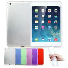 Vente en gros HOT Bonbons Couleur Cristal Clair Transparent Doux TPU De Protection Étui Arrière Couverture Pour iPad 2 PCC077